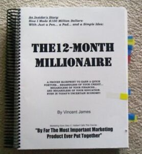 James Vincent s Original 12 Month Millionaire Copywriting Direct Mail