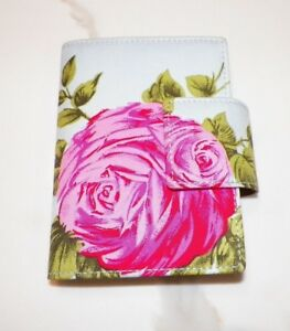 Kate Spade Light Blue With Pink Roses Personal Organizer