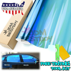20 X120 Uncut Chameleon Mirror Neo Chrome Window Tint Film Car Office Glass