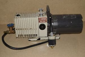 Varian Sd 300 Dual Stage Vacuum Pump W Franklin Electric 3 4hp 1725 Rpm Motor