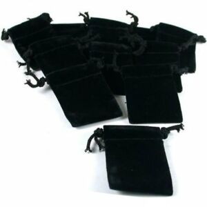 Black Velvet Gift Bag Drawstring Jewelry Pouches 2 Kit 144 Pcs