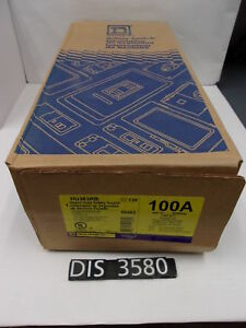New Square D 600 Volt 100 Amp Non Fused Disconnect Safety Switch dis3580