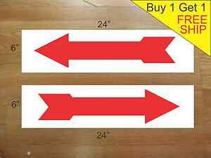 Arrow 6 x24 Real Estate Rider Signs Buy 1 Get 1 Free 2 Sided Corrugated Plastic