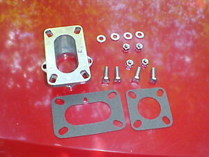 2 Barrel Carb To 1 Barrel Manifold Adapter Rat Rod New Chevy Dodg Jeep Rochester