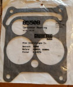 Base Mounting Flange Gasket Rochester Quadrajet Carburetor 4 Barrel 1965 69 Gm