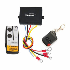 12v 50ft Winch Wireless Remote Control Sets For Jeep Truck Atv Warn Ramsey