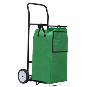 Portable Shopping Laundry Folding Utility Cart Basket Trolley Gardening Leaves