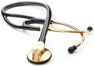 New Adc Model 600gp Gold Edition Cardiology Multifrequency Stethoscope