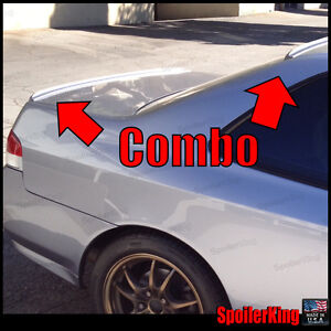 Combo fits Honda Prelude 1997 01 Rear Roof Wing Trunk Spoilers 284r 244l