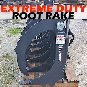 Bradco 72 Extreme Duty Rake root Grapple fits Skid Steers also Use As Scarifier