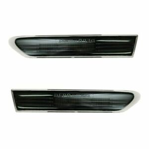 Fits Acura Tl 2004 2008 Led Front Side Marker Light Lamp Jdm Smoked Black Pair