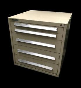 Stanley Vidmar 5 Drawer Industrial Tool Cabinet 30 X 27 5 X 33