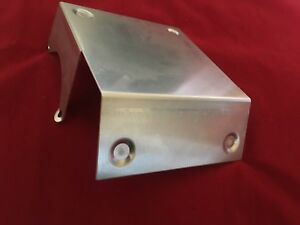 Satin Aluminum Starter Heat Shield Most Gm Starters Sbc Bbc Chevy