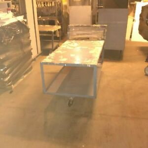 Flat Carts Commercial Stock Cart W Shelves Used Store Backroom Warehouse Fixture
