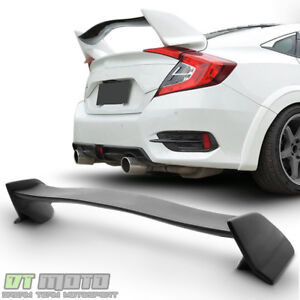 For 2016 2017 2018 Honda Civic Sedan type R Style Trunk Spoiler Wing Paintable