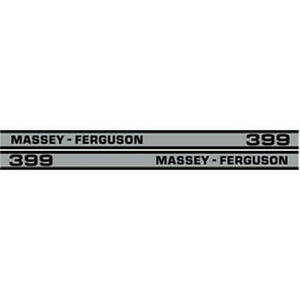 New 399 Massey Ferguson Tractor Hood Decal Kit Mf 399 Cab High Quality Decals
