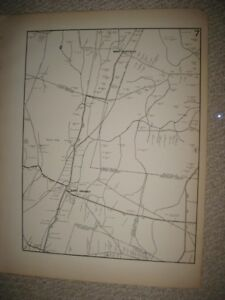 Antique 1931 West Suffield East Granby Hartford County Connecticut Map Rare Nr