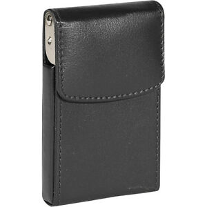 Royce Leather Vertical Framed Card Case Black Business Accessorie New