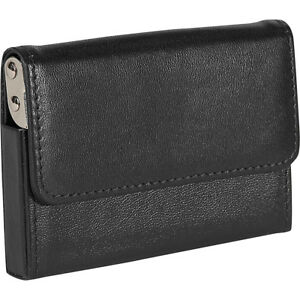 Royce Leather Horizontal Framed Card Case Black Business Accessorie New
