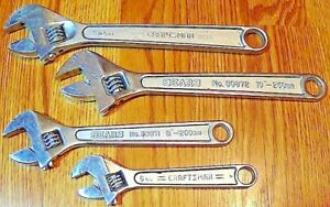 Craftsman Sears 6 8 2 10 Adjustable Wrench Set 4 Pcs Free Shipping