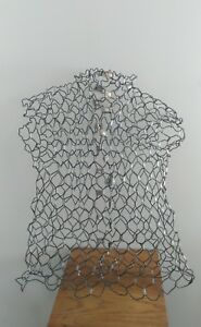 Vintage Wire Metal Mesh Mannequin Steampunk Dress Form no Stand Aba0815