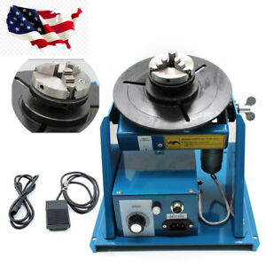 Mini Rotary Welding Positioner Turntable 2 5 3 Jaw Lathe Chuck 2 10r min 110v