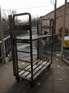 Stock Cart Commercial Utility Stocking Used Store Warehouse Backroom Equipment