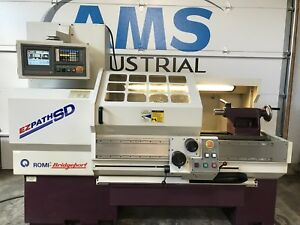 Bridgeport Romi Ez Path Sd Cnc Lathe Haas Prototrak Harrison Fryer Clausing Mori