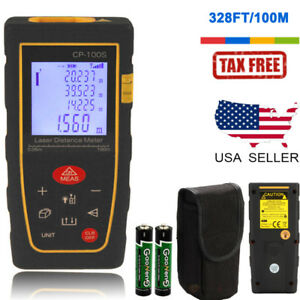 100m 328ft Digital Laser Distance Meter Range Finder Measure Tape Diastimeter Us