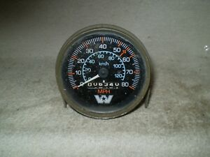 Vintage Stewart Warner 0 80 Mph Mechanical Speedometer 832647