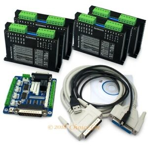 Cnc Kit 4 Axis M542 Stepper Driver For Nema17 23 34 Motor 5axis Breakout Board