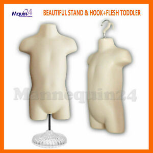 One Toddler Torso Mannequin W beautiful Stand Hanging Hook For Pants Display