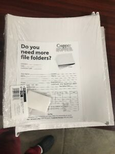 Scrapbook Hanging File Folders For 12 X 12 Paper Lot Of 18 White New In Package