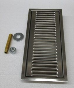Drip Tray Stainless Steel recessed 13 Long X 6 Wide X 1 Deep
