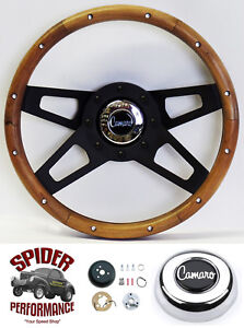 1968 Camaro Steering Wheel Grant 13 1 2 Walnut 4 Spoke Black