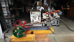 Live Steam Engine With Flyball Governor Mill Engine Boiler Whistle Lubricator