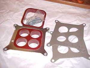 1 Aluminum 4 Hole or open Tunable Carb Spacer Kit more Power chevy Rat tcs 12