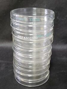 Lot Of 10 Pyrex Vented Petri Dish Complete Laboratory Glassware