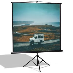 Portable Adjustable 84 Tripod Floor Stand Base Manual Pull Up Projection Screen