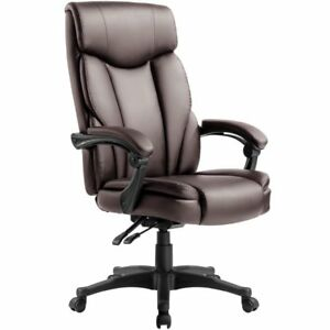 Black brown pu Leather High Back Office Executive Ergonomic Computer Chair
