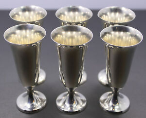 Sterling Silver Gorham Cordial Cups Set Of 6