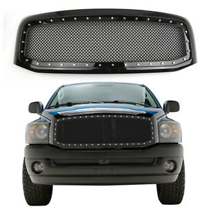 For 2006 2007 2008 Dodge Ram 1500 2500 3500 Abs Wire Mesh Front Grille W Shell