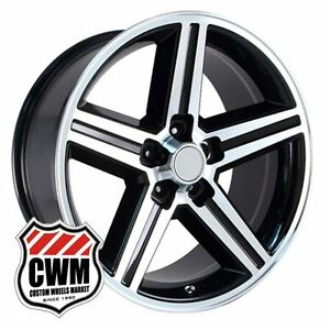 17 Inch 17x8 Iroc Z Camaro Black Machined Oe Replica Wheels Rims 5x4 75 0 Mm