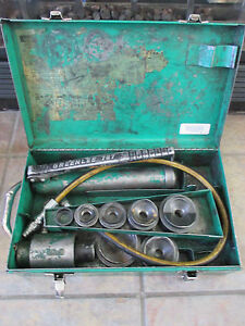 Greenlee 7306 Hydraulic Knockout Driver Punch Set With Case And 767 Pump