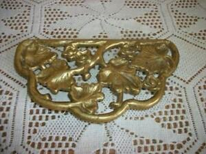 Vintage Chic Japan Brass Plant Stand Trivet Plateau Hollywood Regency Shabby