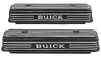 Brand New Buick Nailhead Valve Covers Aluminum Finned Logo 322 364 401 425