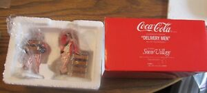 Dept 56 Coca-Cola Coke Delivery Men IN BOX Snow Village NEW?