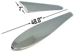 Carrichs Accessories Bs111 Chrome Universal Chrome Bodyside Moldings 48in