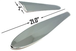 Carrichs Accessories Bs114 Chrome Universal Chrome Bodyside Moldings 21in