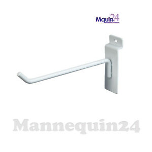 8 Inch Slat Wall Hook White Box Of 100